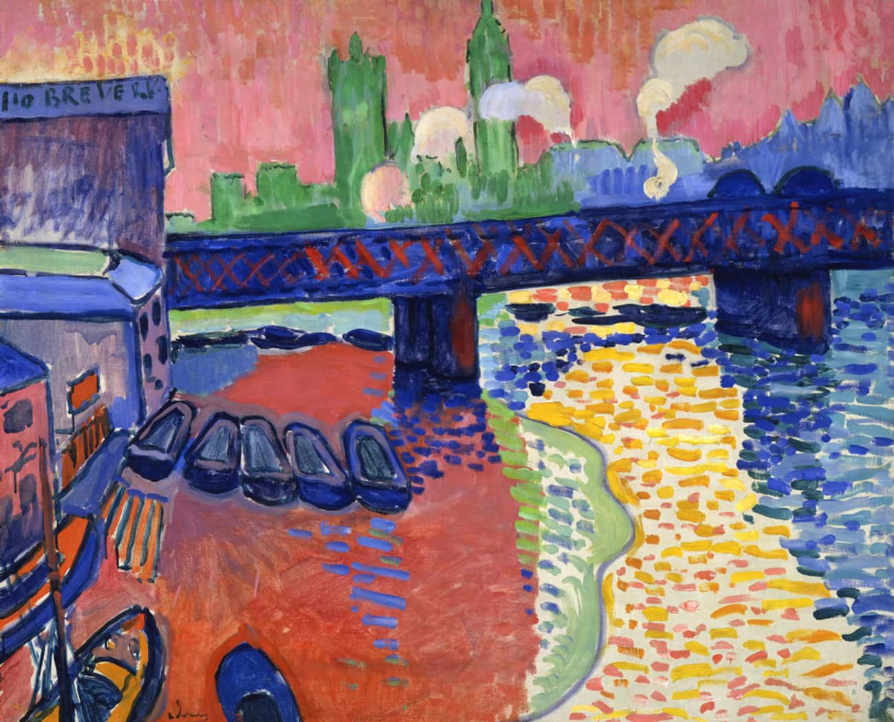Charing Cross Bridge, London is listed (or ranked) 2 on the list Famous Fauvism Paintings