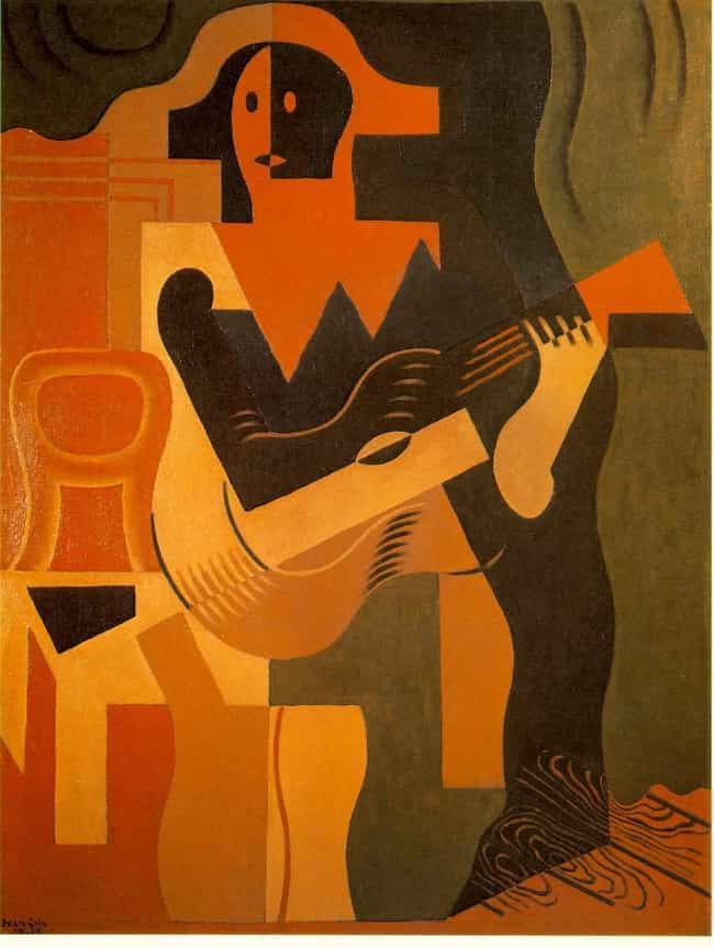 Harlequin with Guitar is listed (or ranked) 3 on the list Famous Cubism Paintings
