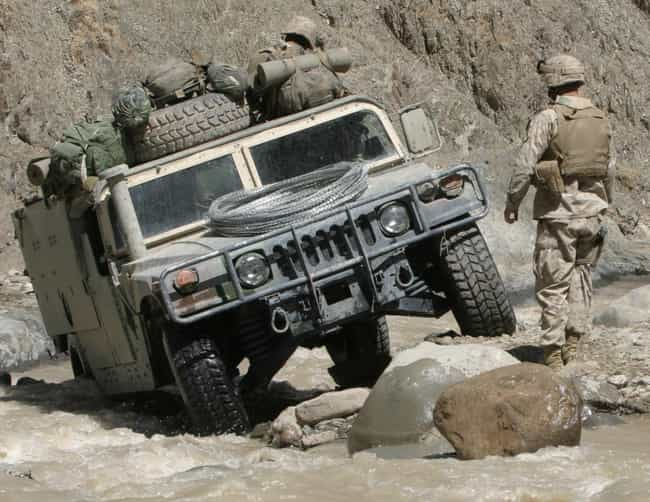 Humvee is listed (or ranked) 3 on the list 20 Military Vehicles You Can Actually Own