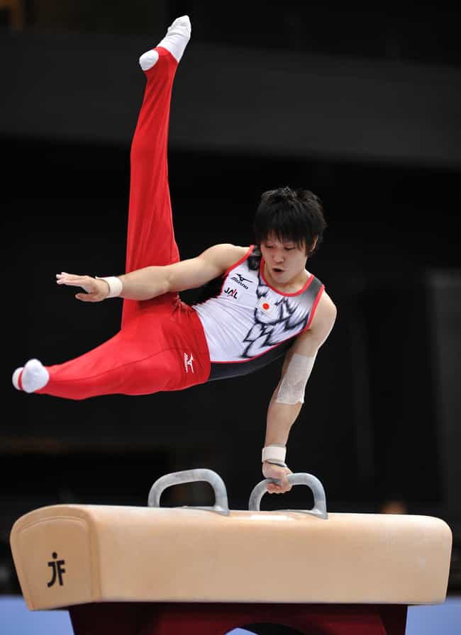 Kohei Uchimura is listed (or ranked) 4 on the list Famous Male Gymnasts