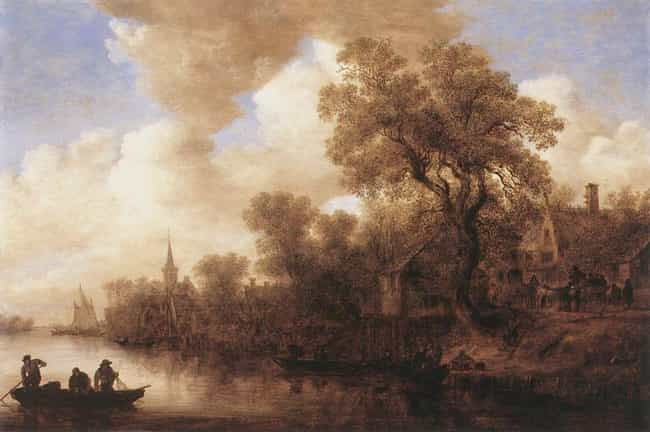 River Scene is listed (or ranked) 2 on the list Famous Jan van Goyen Paintings