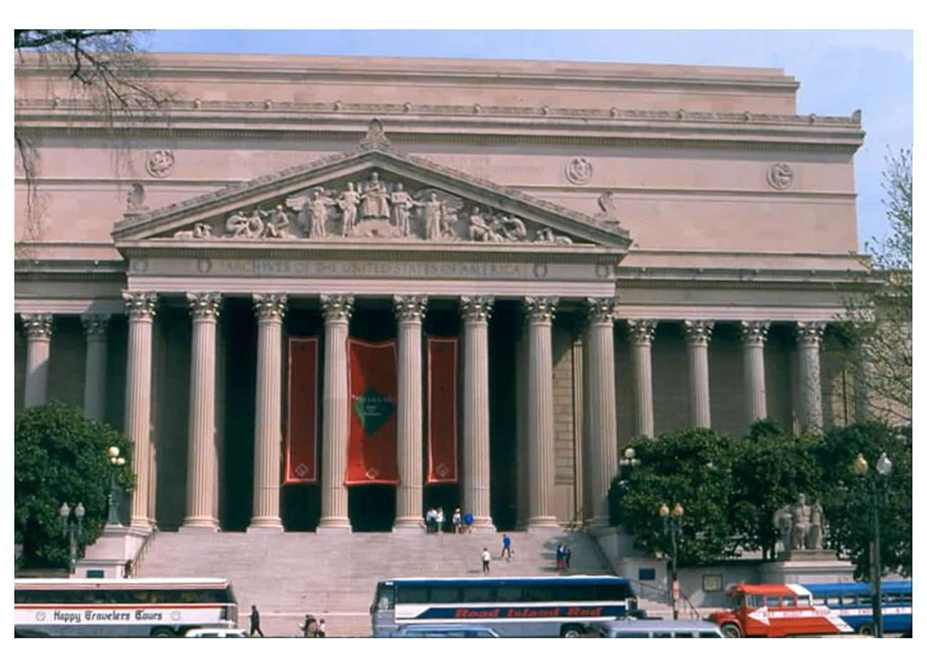 National Archives Building is listed (or ranked) 2 on the list United States of America Architecture: Famous Landmarks and Buildings