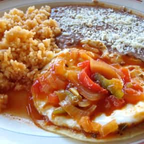 Huevos rancheros is listed (or ranked) 18 on the list 41 Different Ways to Cook an Egg, Ranked by Deliciousness
