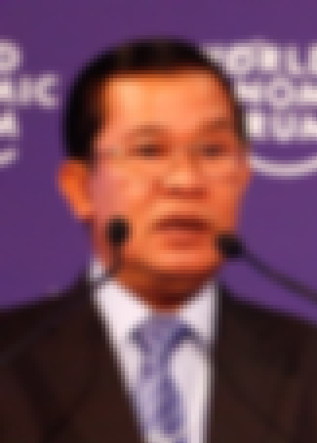 Hun Sen is listed (or ranked) 1 on the list Famous Politicians from Cambodia
