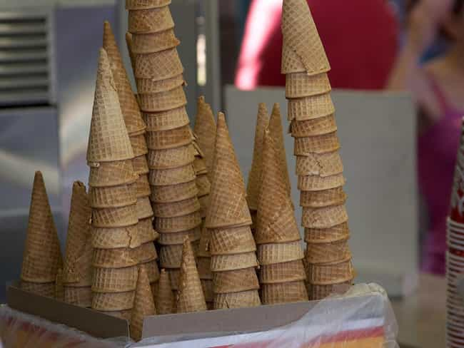 Ice cream cone is listed (or ranked) 4 on the list Famous Foods Discovered by Accident