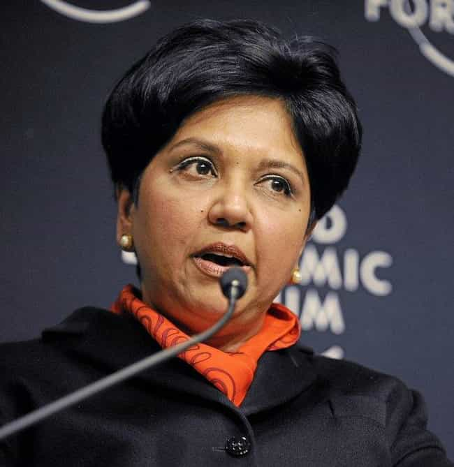 Indra Nooyi is listed (or ranked) 1 on the list Famous People who Majored in Chemistry