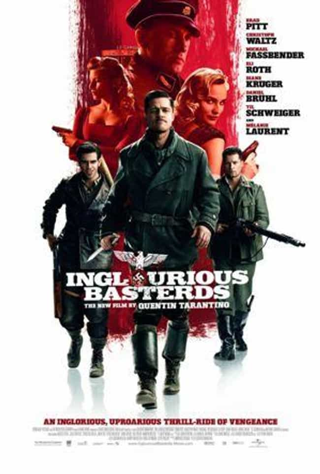 Inglourious Basterds is listed (or ranked) 3 on the list Brad Pitt Black Comedy Roles