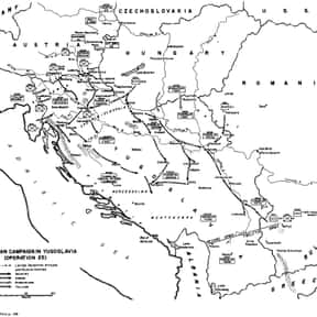 Invasion of Yugoslavia is listed (or ranked) 14 on the list World War II Battles Involving the Axis Powers