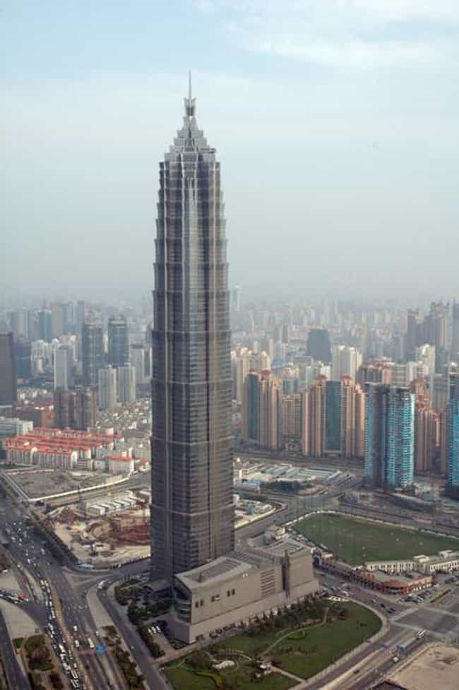 Jin Mao Tower is listed (or ranked) 4 on the list List of Famous Pudong Buildings & Structures