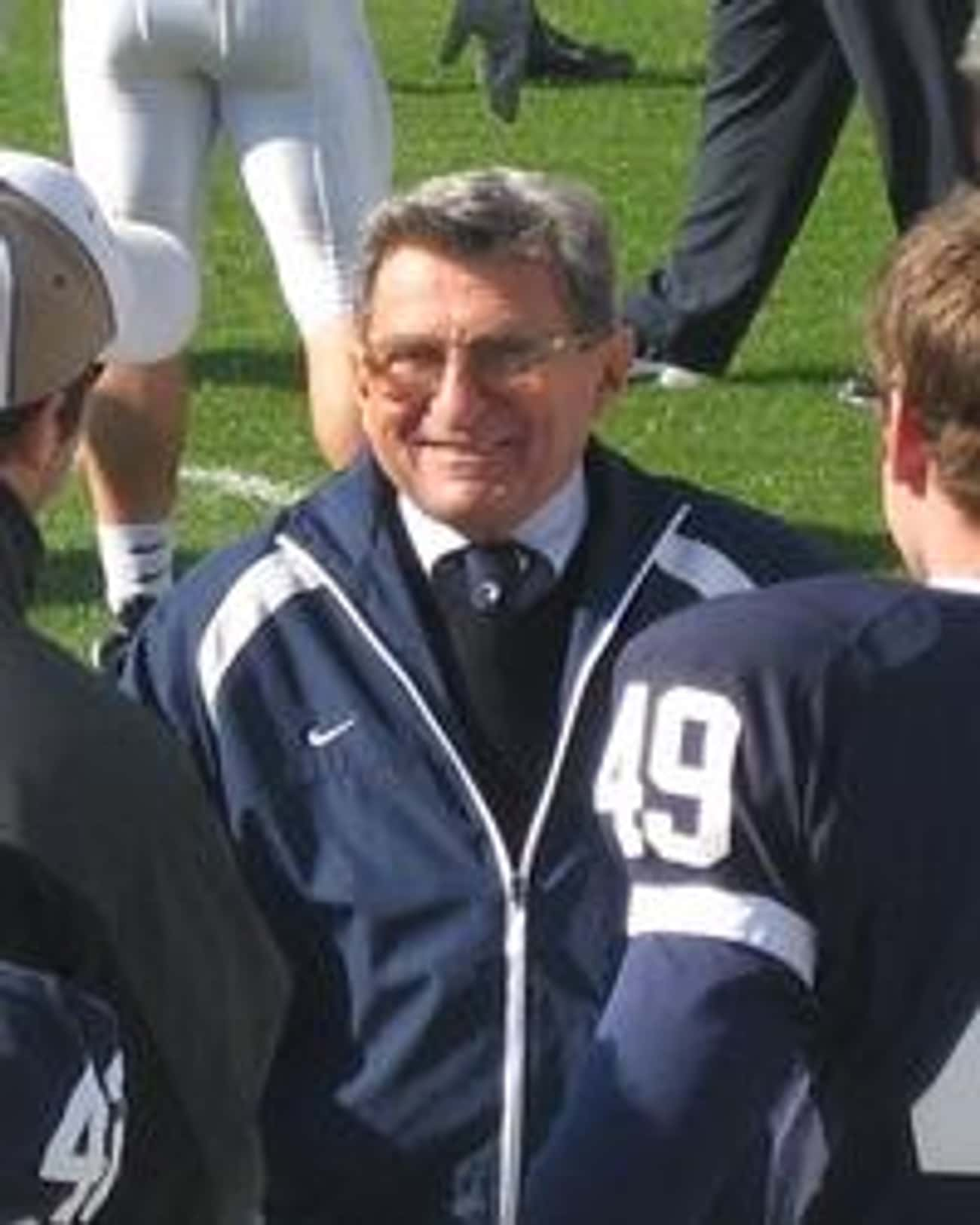 Joe Paterno is listed (or ranked) 4 on the list The Most Drastic Falls From Grace Throughout History
