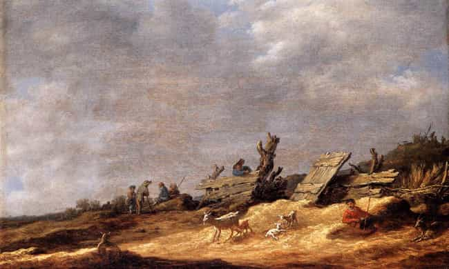 Dune Landscape is listed (or ranked) 1 on the list Famous Jan van Goyen Paintings