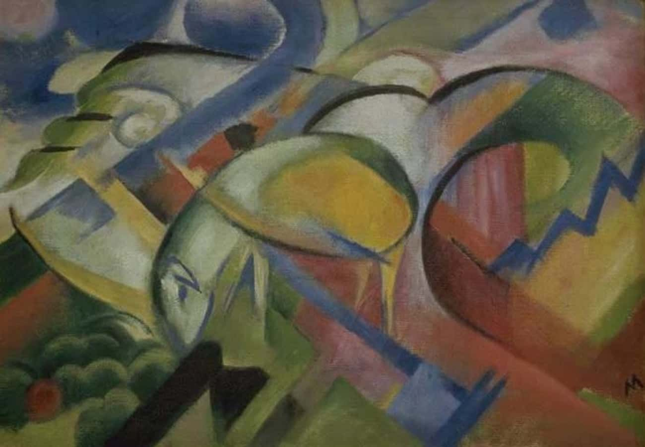 The Lamb is listed (or ranked) 4 on the list Famous Animal Paintings by Franz Marc