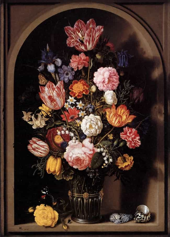 Bouquet of Flowers in a ... is listed (or ranked) 4 on the list List of Famous Still Life Paintings