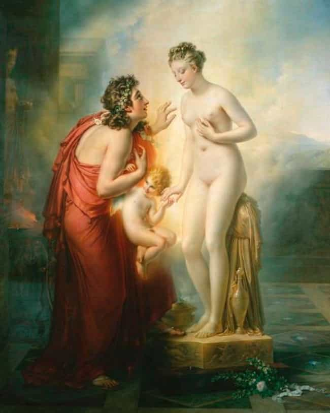 Pygmalion and Galatea is listed (or ranked) 4 on the list Famous History Paintings by Anne-Louis Girodet De Roussy-Trioson
