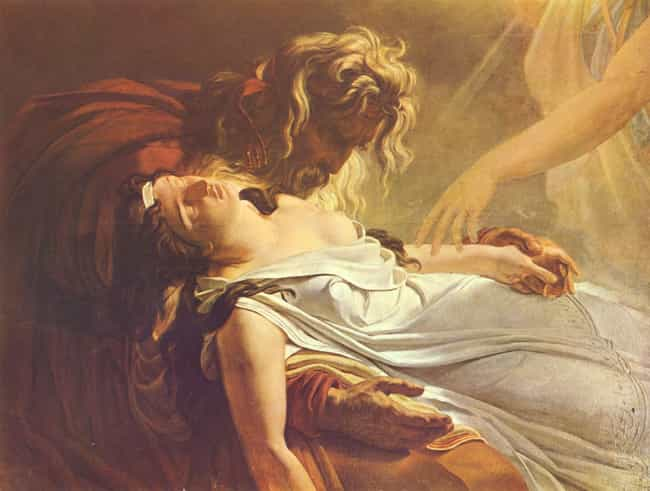 Malvine, Dying in the Ar... is listed (or ranked) 2 on the list Famous History Paintings by Anne-Louis Girodet De Roussy-Trioson
