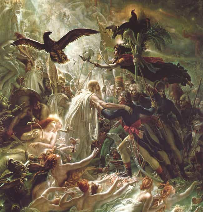 Ossian Receiving the Spi... is listed (or ranked) 3 on the list Famous History Paintings by Anne-Louis Girodet De Roussy-Trioson