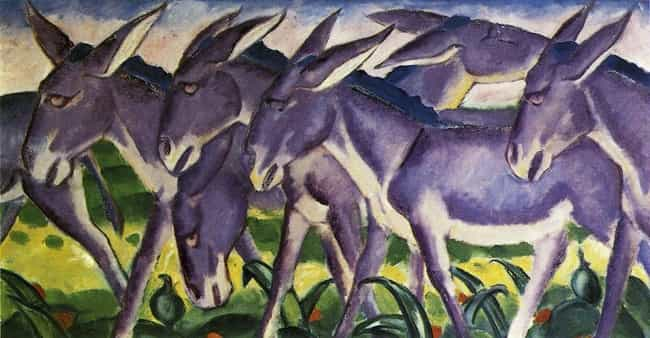 Donkey Frieze is listed (or ranked) 2 on the list Famous Animal Paintings by Franz Marc