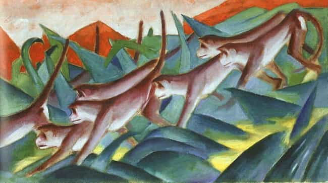 Monkey Frieze is listed (or ranked) 3 on the list Famous Animal Paintings by Franz Marc