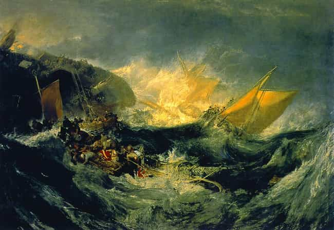 J. M. W. Turner is listed (or ranked) 1 on the list The Most Famous Romantic Artists Of All Time