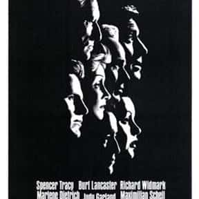 Judgment at Nuremberg is listed (or ranked) 9 on the list The Best Oscar-Nominated Movies of the 1960s