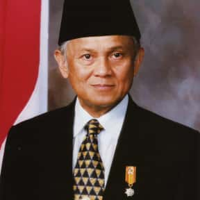 B. J. Habibie is listed (or ranked) 25 on the list Famous People From Indonesia