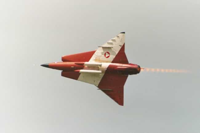 Saab 35 Draken is listed (or ranked) 1 on the list Saab Aircraft Types