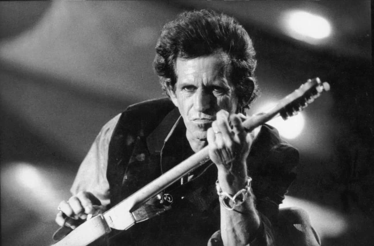 Keith Richards is listed (or ranked) 4 on the list Celebrities Who Are Superstitious
