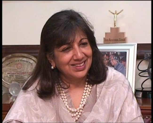 Kiran Mazumdar-Shaw is listed (or ranked) 4 on the list Famous Mount Carmel College Bangalore Alumni