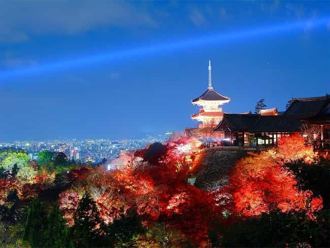 Kyoto is listed (or ranked) 8 on the list The Most Beautiful Cities in the World