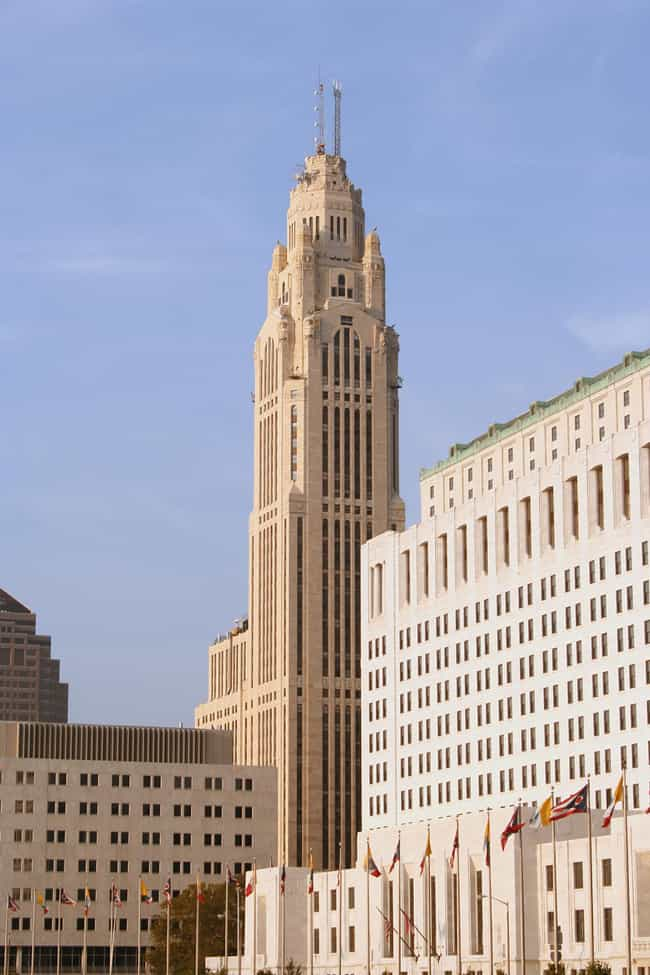LeVeque Tower is listed (or ranked) 3 on the list List of Famous Columbus Buildings & Structures