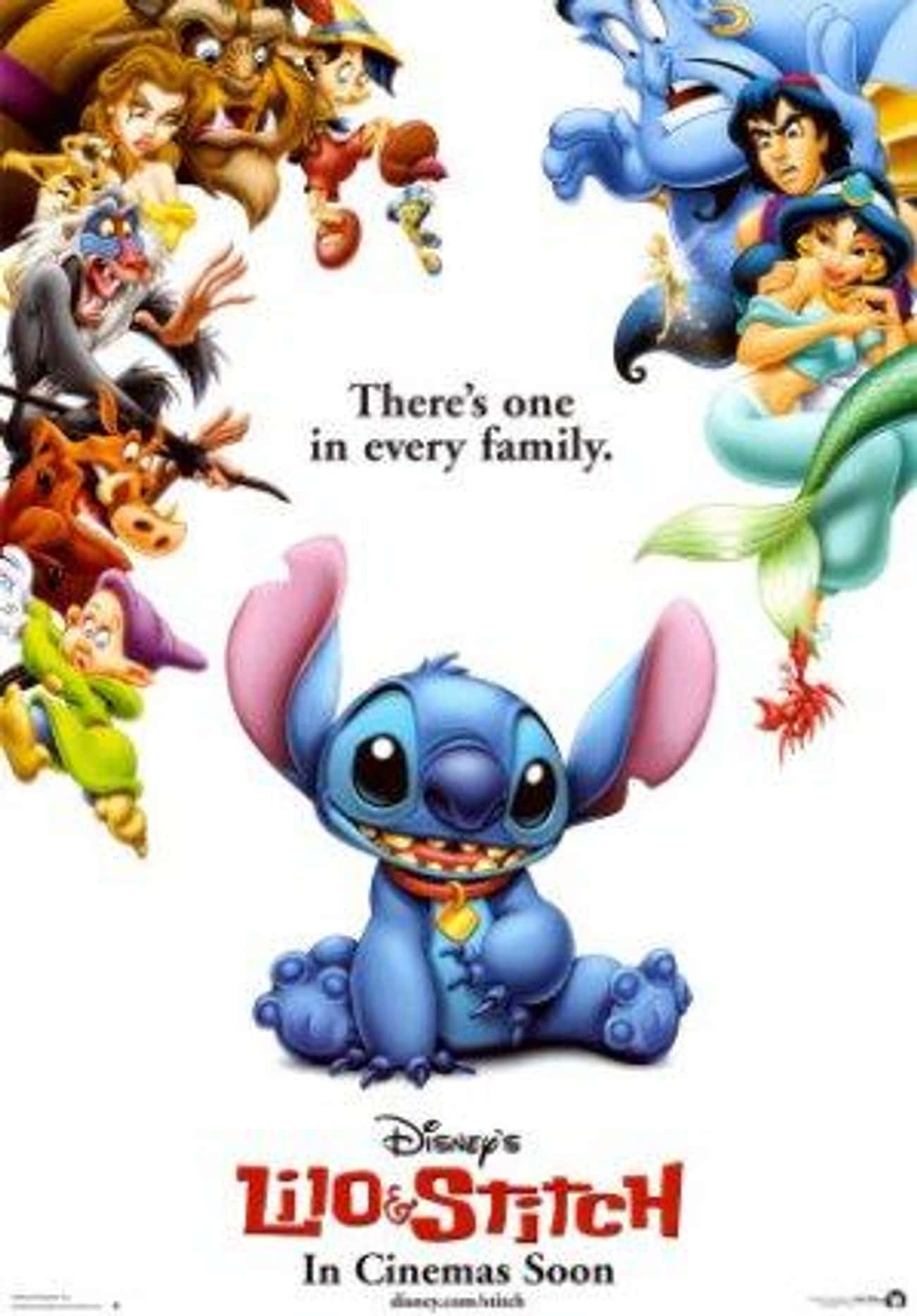Lilo & Stitch is listed (or ranked) 4 on the list The Best Animated Movie Posters