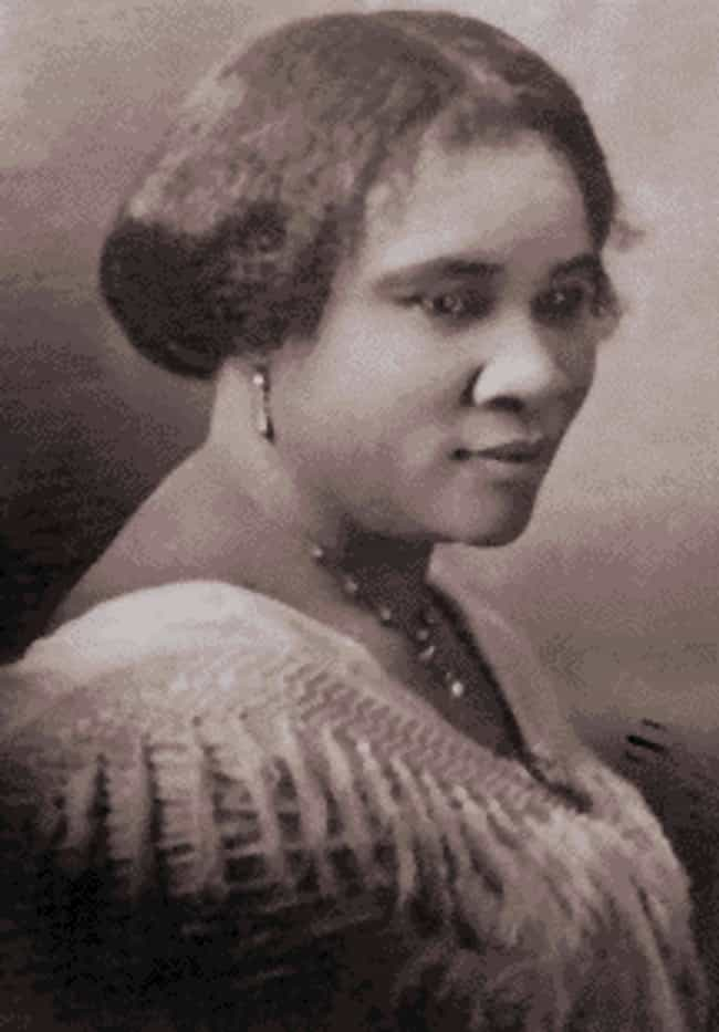 Madam C. J. Walker is listed (or ranked) 3 on the list Famous Female Inventors