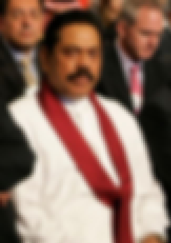 Mahinda Rajapaksa is listed (or ranked) 2 on the list Famous Richmond College Alumni