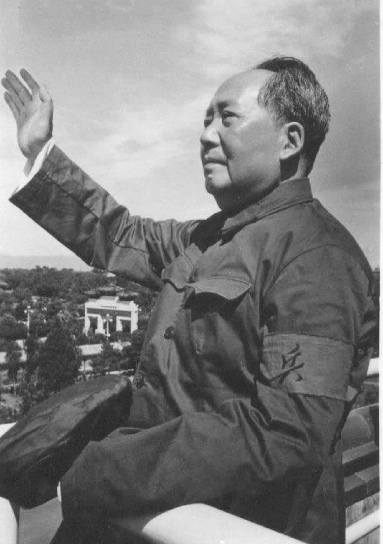 Mao Zedong is listed (or ranked) 3 on the list Famous Male Dictators