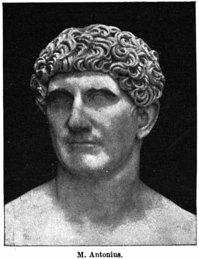 Mark Antony is listed (or ranked) 3 on the list The Worst Admirals of All Time
