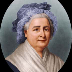 Martha Washington is listed (or ranked) 7 on the list The Most Loved American First Ladies