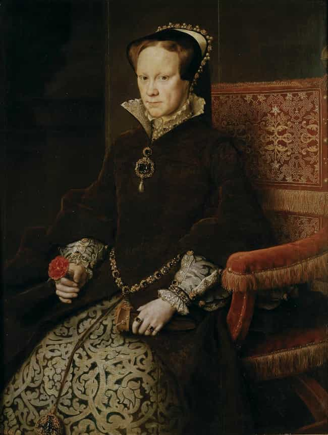 Mary I of England is listed (or ranked) 4 on the list Members of the Tudor Dynasty