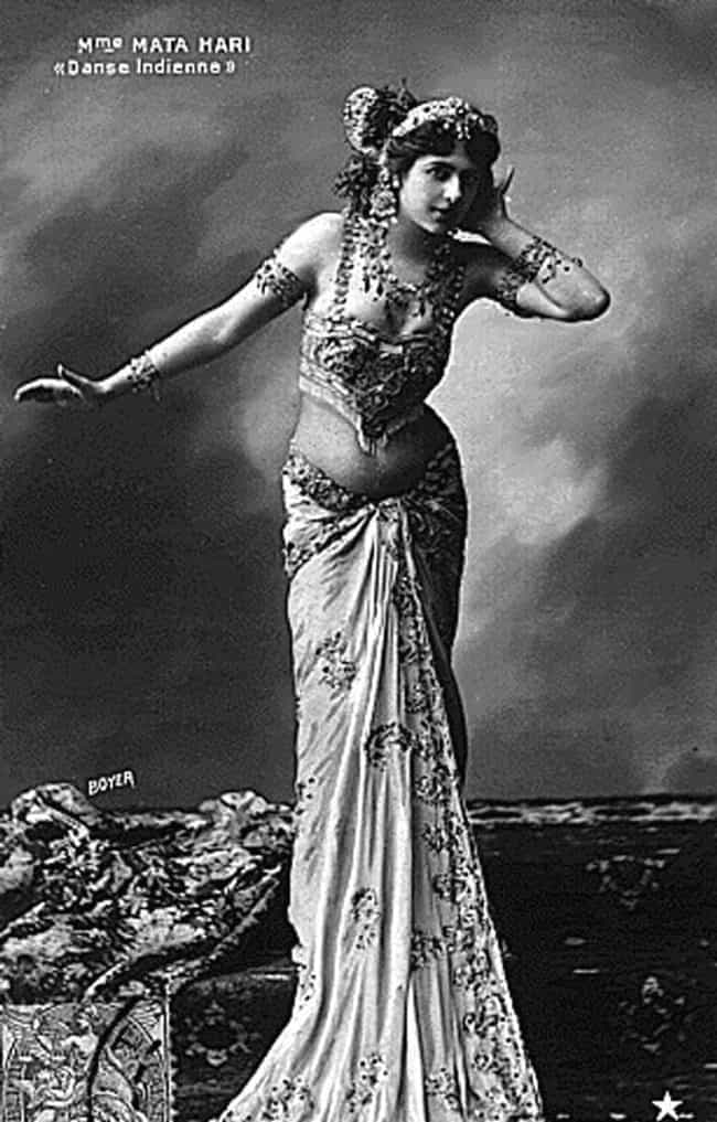 Mata Hari is listed (or ranked) 3 on the list 13 Torrid Sex Scandals Involving Spies