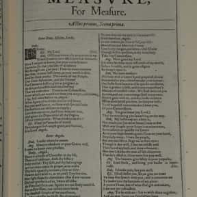Measure for Measure is listed (or ranked) 29 on the list William Shakespeare's Plays