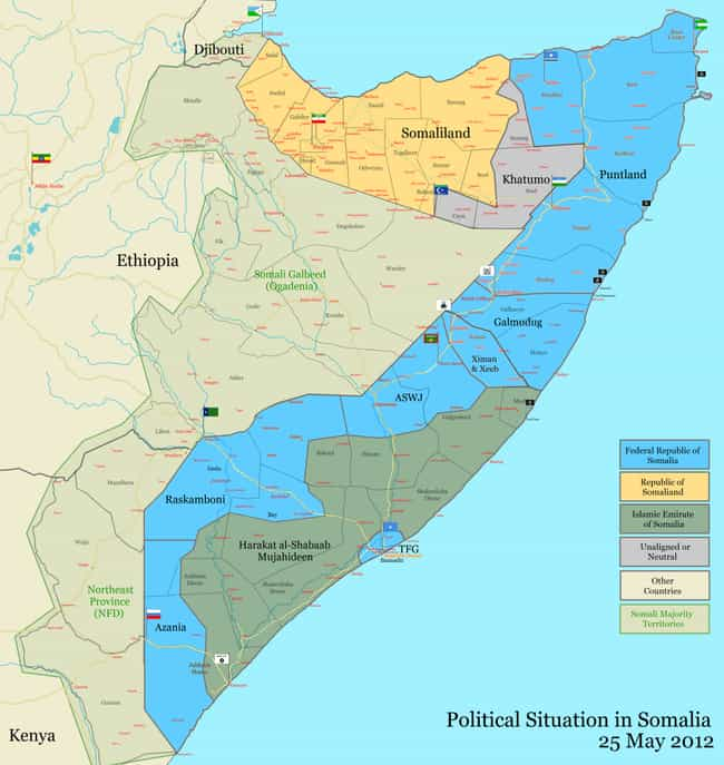 War in Somalia is listed (or ranked) 1 on the list List Of Somali Civil War Battles