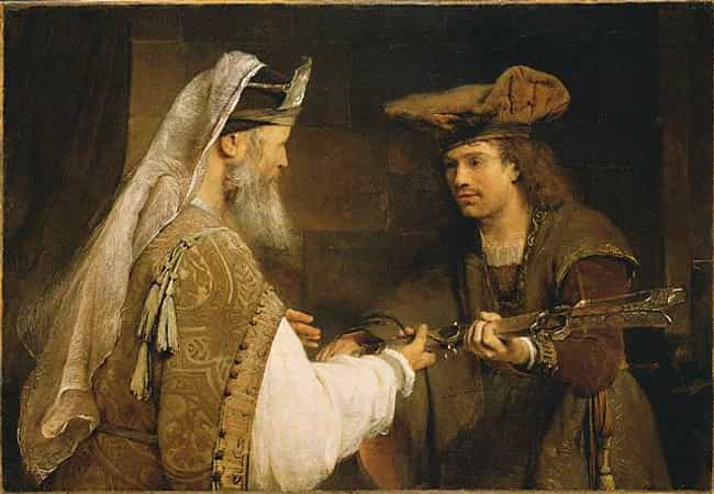 Ahimelech Giving the Sword of ... is listed (or ranked) 2 on the list Famous Baroque Paintings