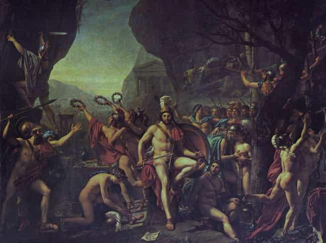 Leonidas at Thermopylae is listed (or ranked) 3 on the list List of Famous Jacques-Louis David Artwork