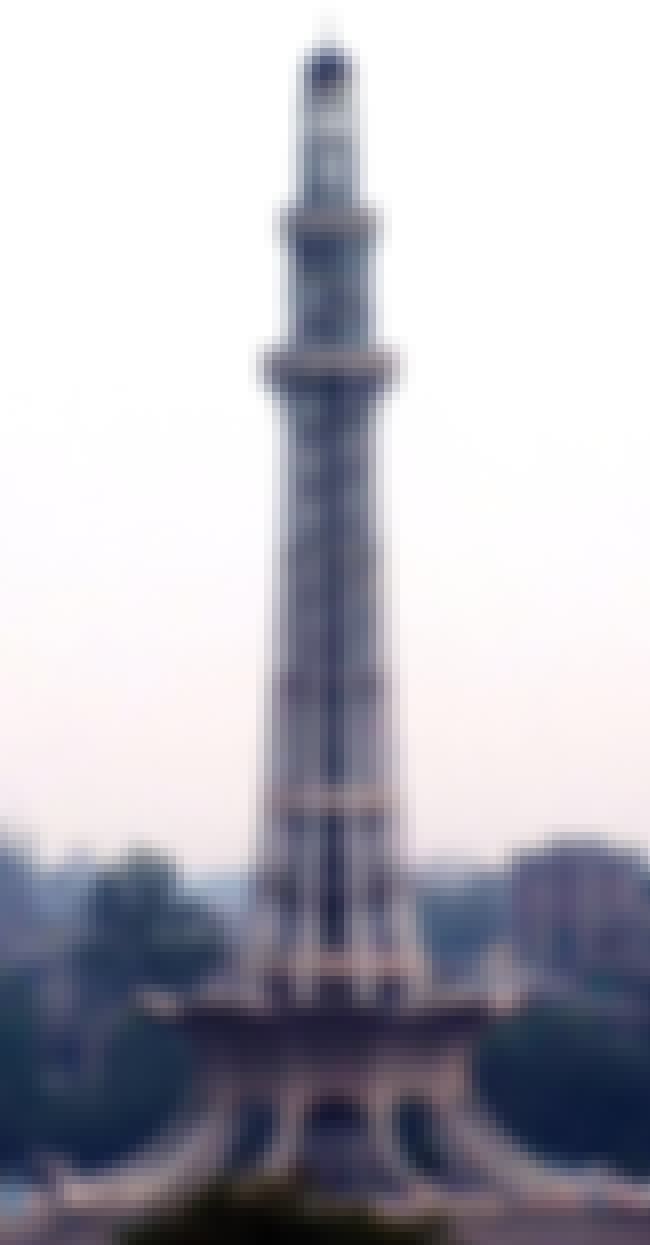 Minar-e-Pakistan is listed (or ranked) 3 on the list List of Famous Lahore Buildings & Structures