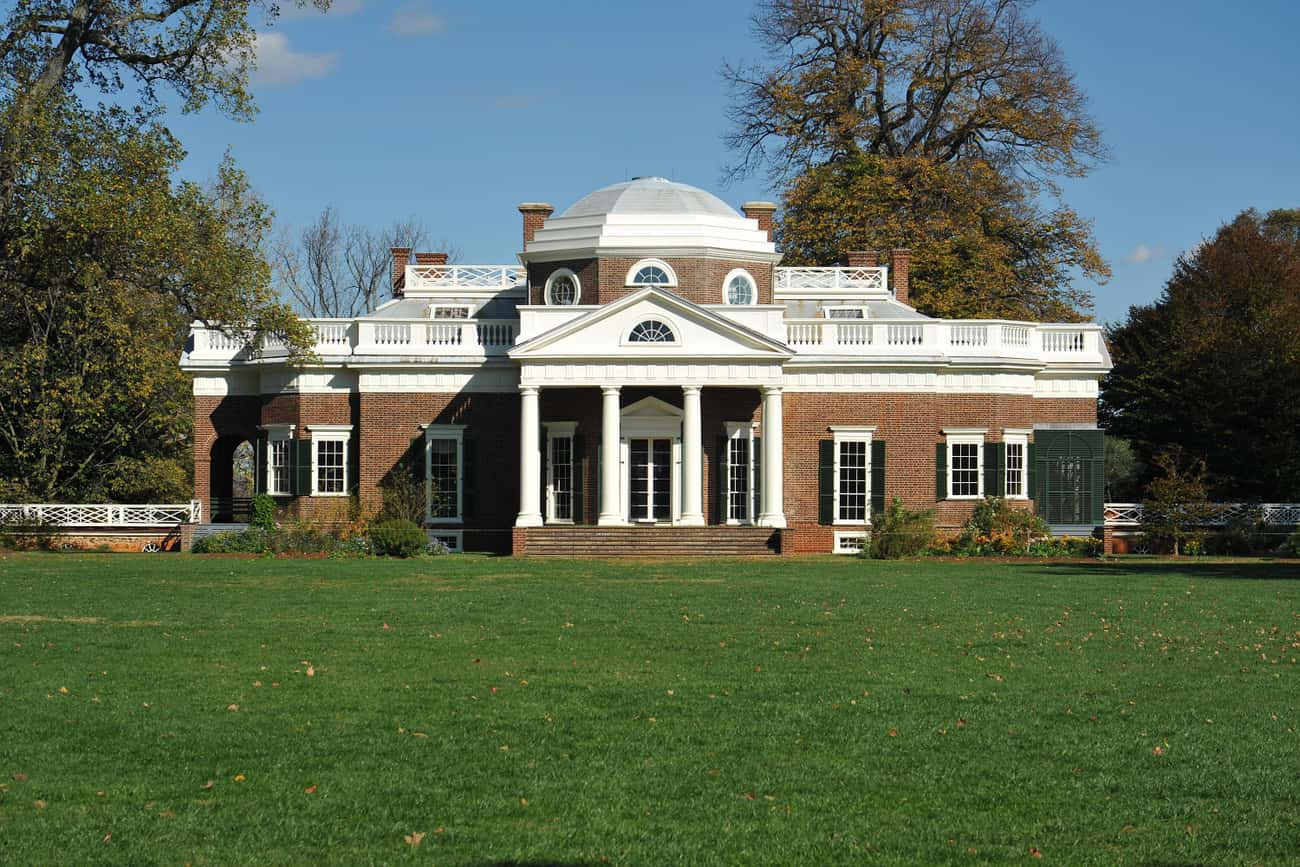 Jefferson's Monticello is listed (or ranked) 1 on the list Rank the U.S. Presidents' OTHER Houses