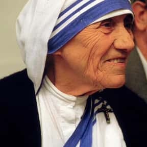 Mother Teresa is listed (or ranked) 1 on the list Gallup Poll: Widely Admired People of the 20th Century