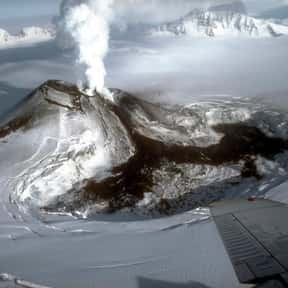 Mount Veniaminof is listed (or ranked) 10 on the list Volcanoes in the United States