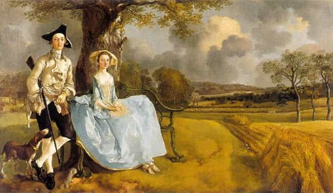 Mr and Mrs Andrews is listed (or ranked) 3 on the list Famous Thomas Gainsborough Paintings