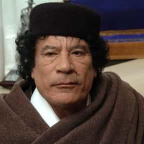 Muammar al-Gaddafi is listed (or ranked) 18 on the list List of Famous Dictators