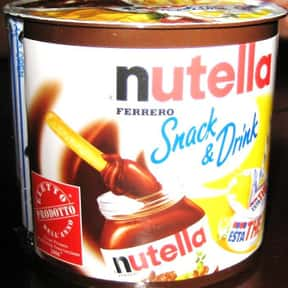 Nutella is listed (or ranked) 25 on the list The Best Ice Cream Toppings