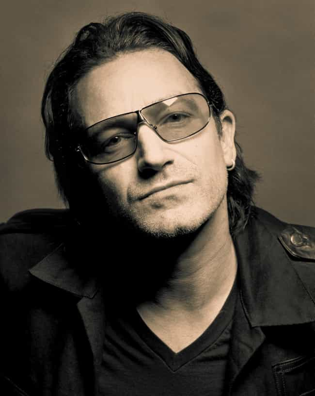 Bono is listed (or ranked) 4 on the list 50+ Musicians of Irish Descent